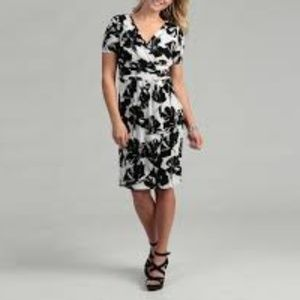 EVAN PICONE Wrap Style Floral Dress